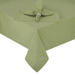 Hemstitch Sage Green Round Fabric Tablecloth, 70 Inch