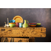 Foodesign Colors of Italy Mixed Color Ceramic 8-Inch Salad Bowls, Set of 4