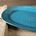 Colors of Italy Venice Blue Ceramic 15-Inch Oval Serving Platter