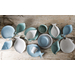 Foodesign Mediterraneo Mixed Color Ceramic 9.5-Inch Conch Bowl, Set of 3