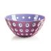 Guzzini Le Murrine Mauve and Lilac 9.8 Inch Bowl