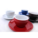 Cilio Roma Red Porcelain 1.7 Ounce Espresso Cup & Saucer