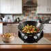 NuWave Mosaic Black Precision Induction Cooktop with Wok and Stainless Steel Spatula