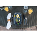 Fortessa Camp Charcoal Melamine Rectangular Coupe Platter, Set of 6