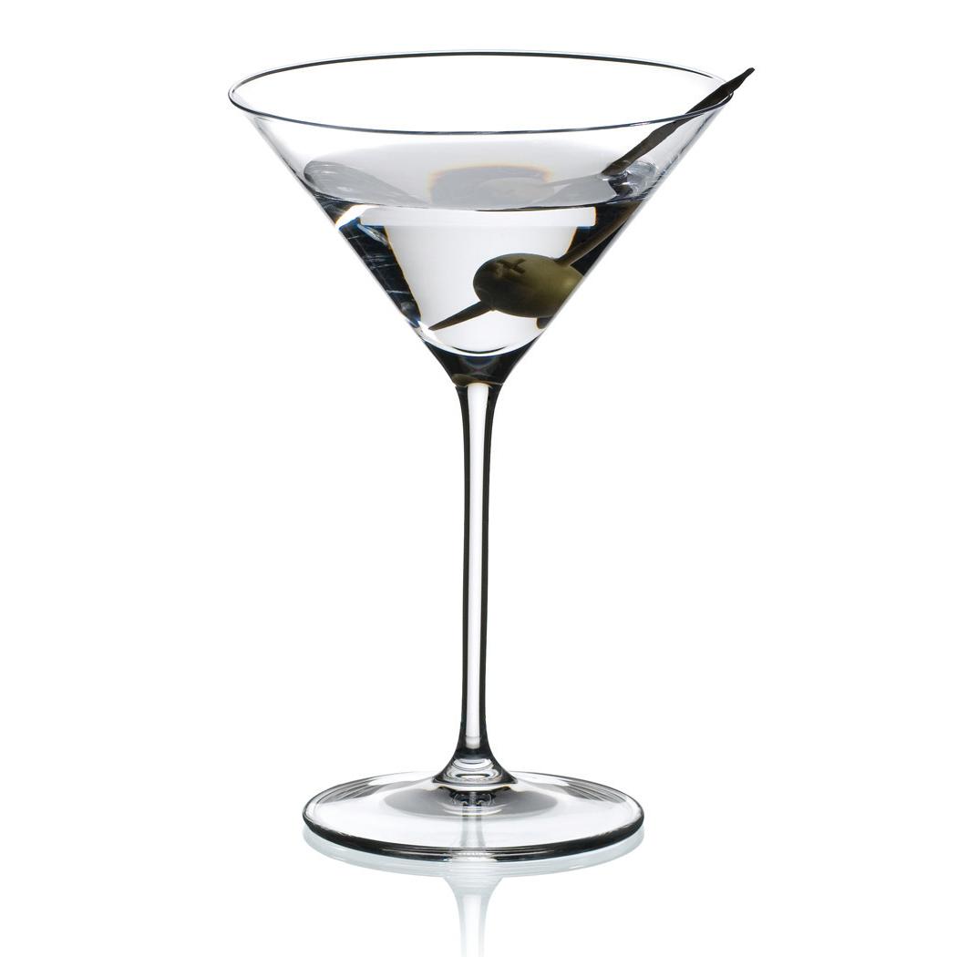 Riedel Bar Vinum XL Leaded Crystal Martini Glass, Set of 2
