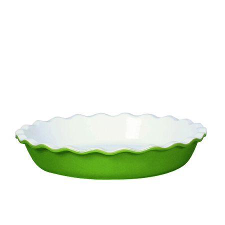 Emile Henry Vert Ceramic Le Grand Pie Dish, 12 Inch