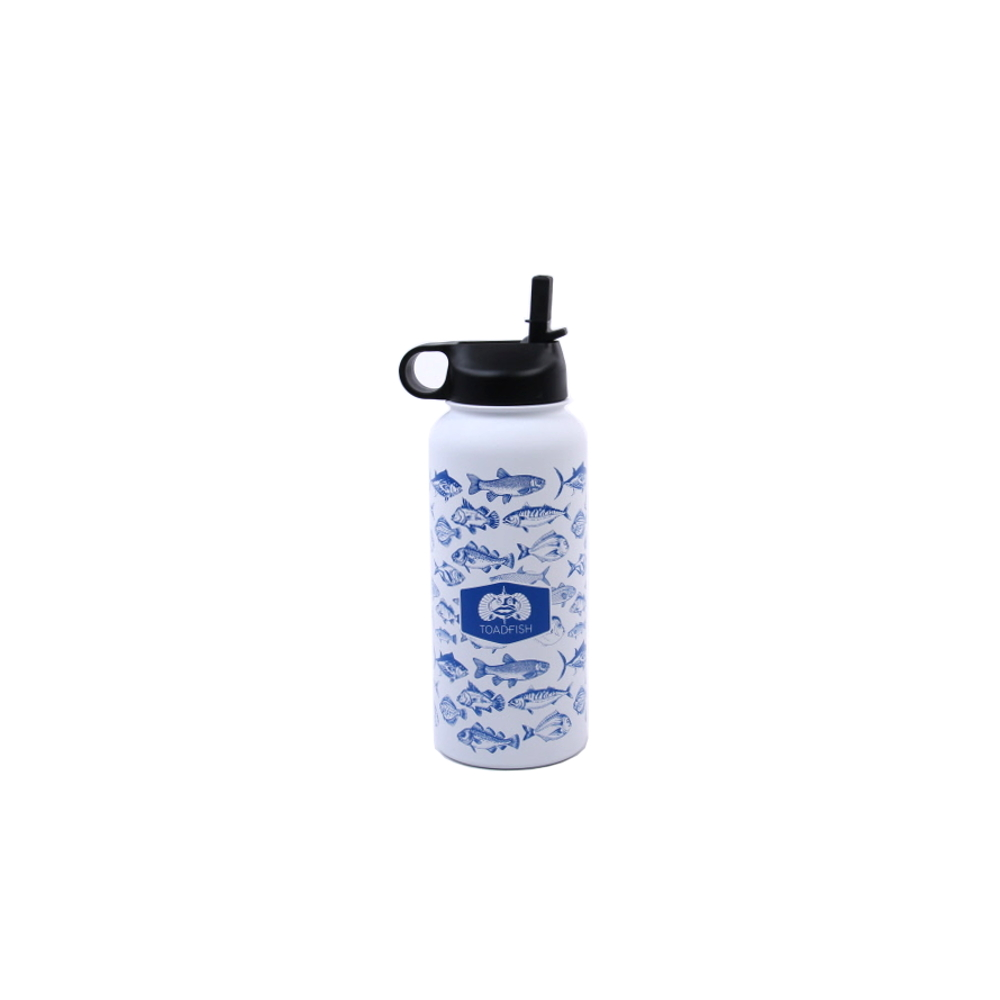 Toadfish Outfitters Stainless Steel 32 Ounce Insulated Water Bottle with Lid