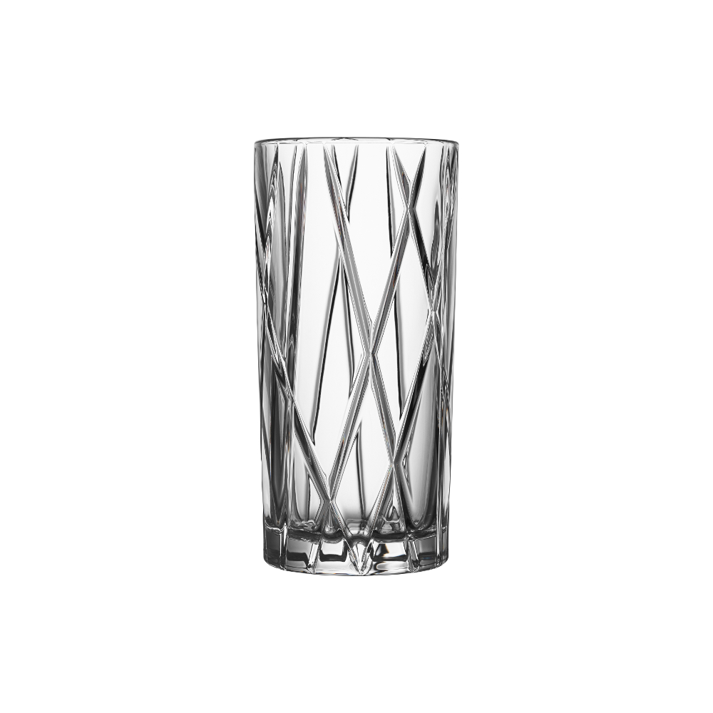 Orrefors City 11.5 Ounce Highball and 10.8 Ounce DOF Glasses, Set of 8