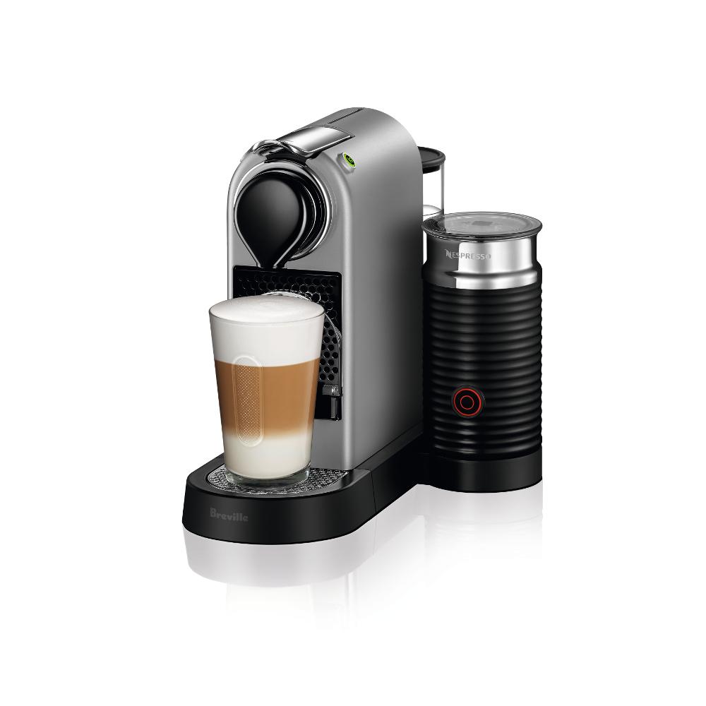 Nespresso by Breville Silver CitiZ's Espresso Machine with Aeroccino Milk Frother