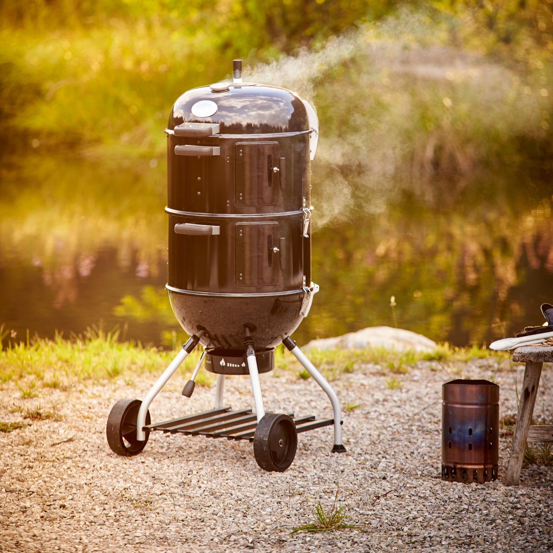 Rosle Black Enameled Steel Charcoal Smoker No.1 F50-S