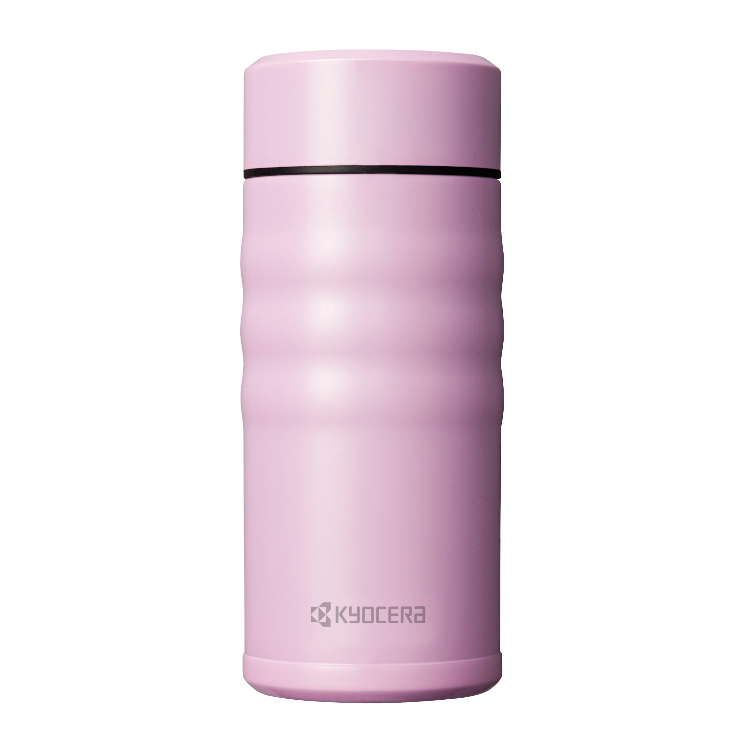Kyocera Cotton Candy Pink Stainless Steel 12 Ounce Twist Top Insulated Travel Mug