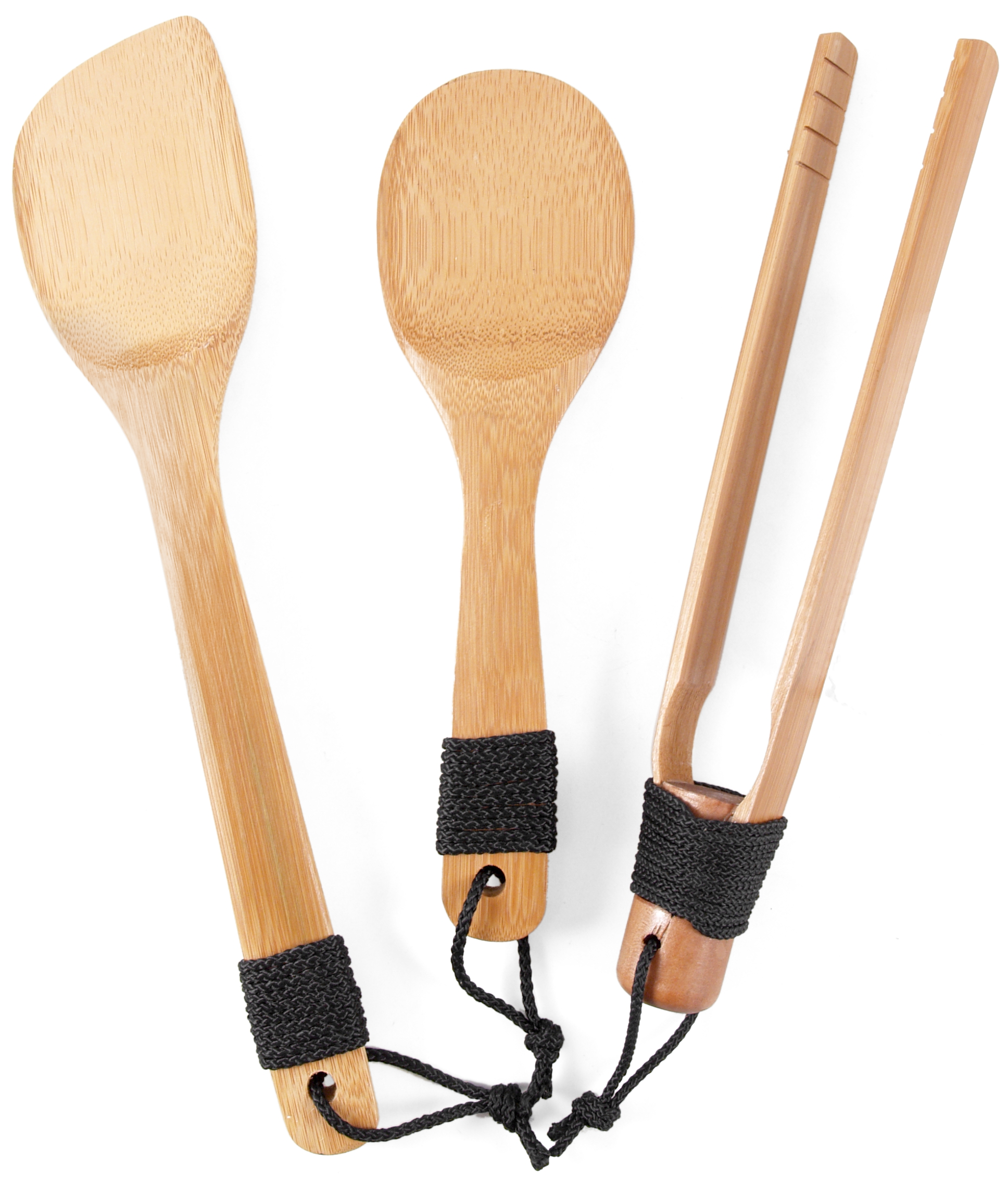 Burnished Bamboo 3 Piece Asian Utensil Set