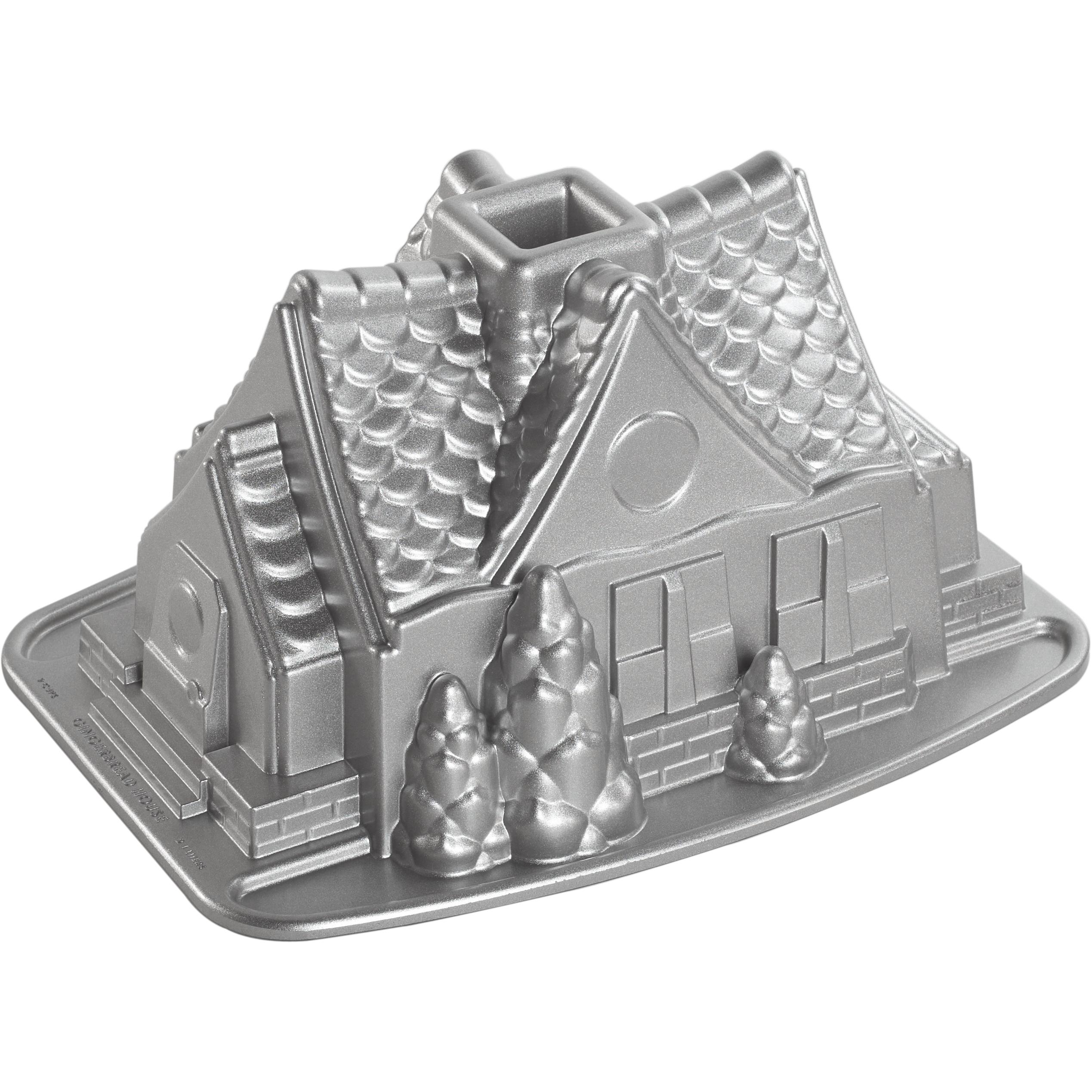 Nordic Ware Platinum Bakeware Gingerbread House Bundt Cake Pan