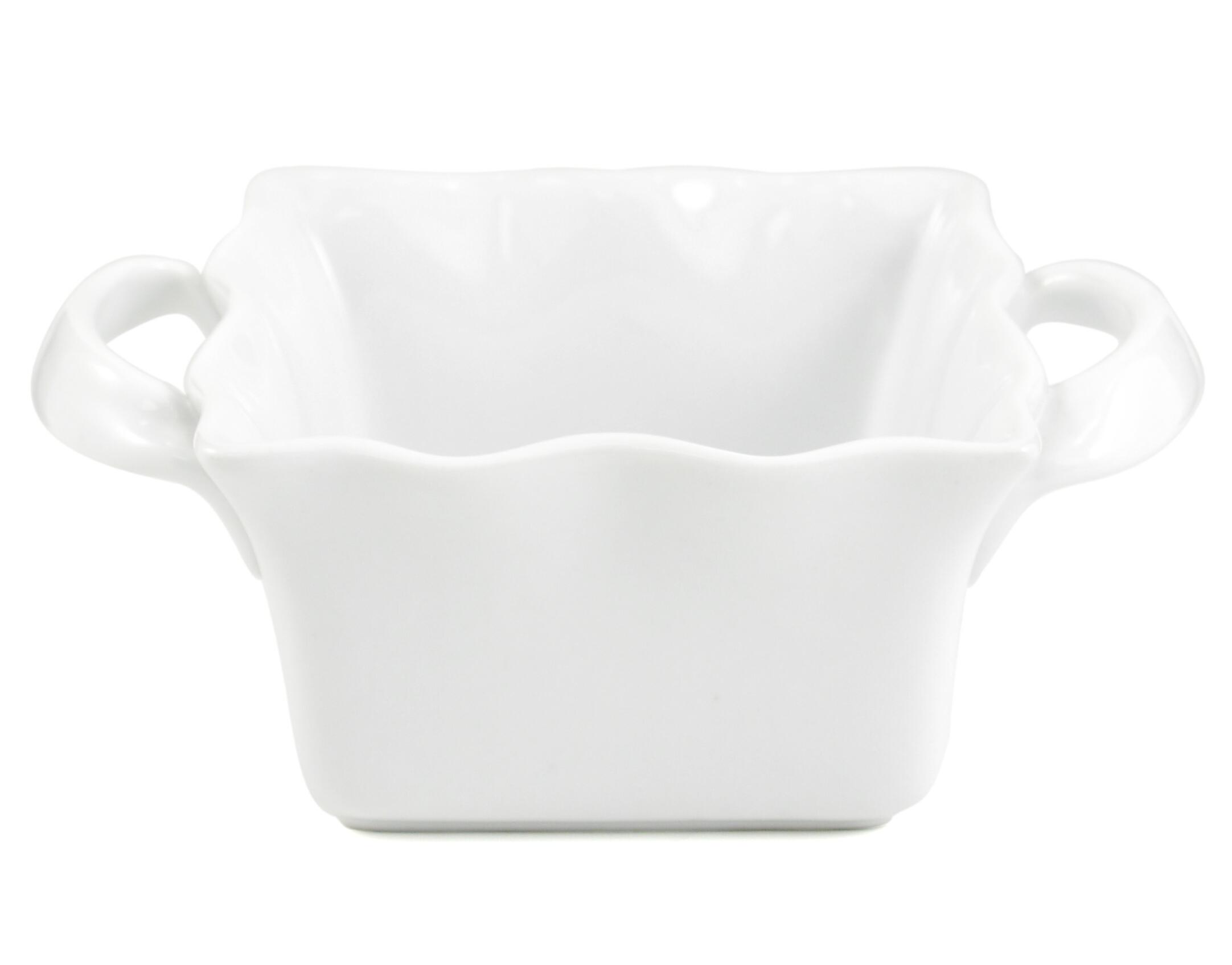 BIA Cordon Bleu Porcelain Wavy Square Baking Dish, 16 Ounce