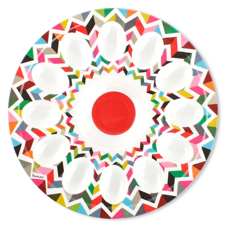 French Bull Ziggy 12 Inch Egg Platter