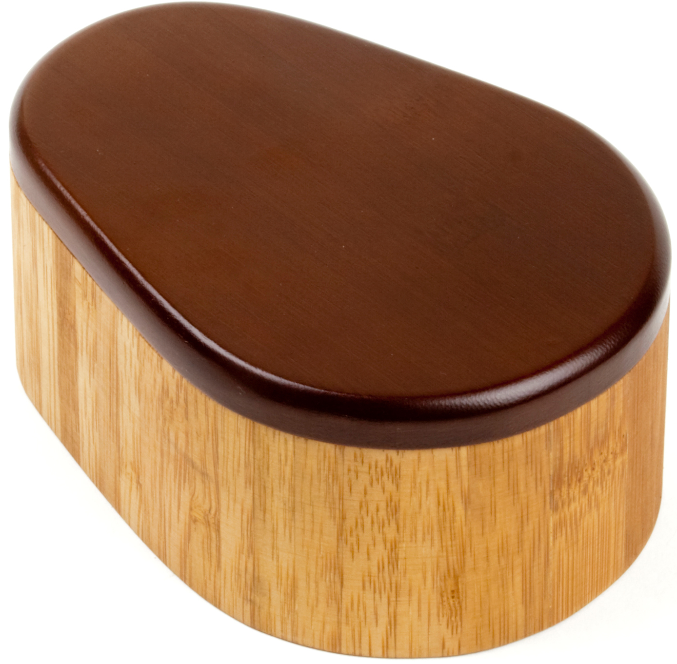 Anchor Hocking 2-Toned Bamboo Salt Box with Espresso Colored Lid