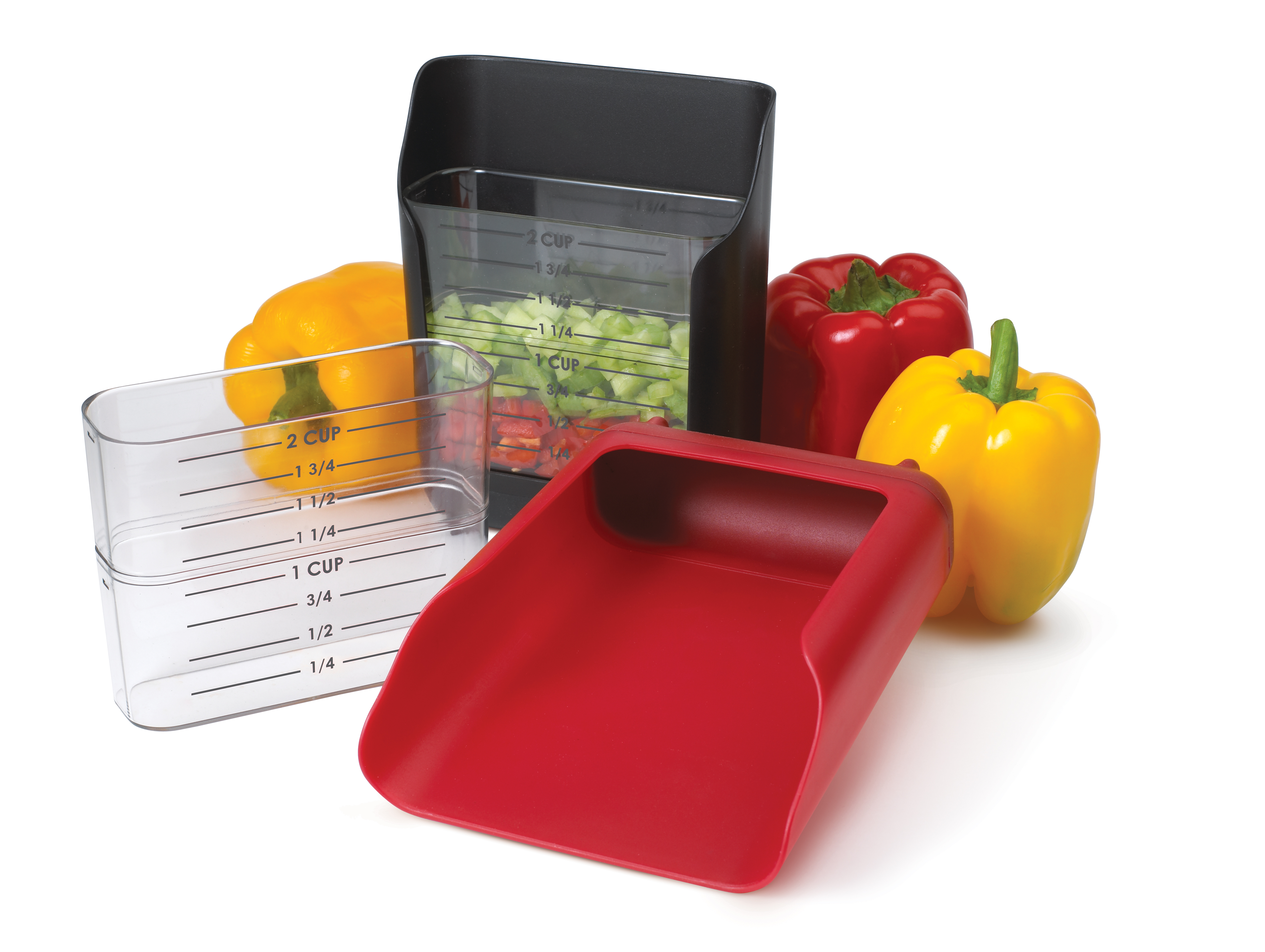Chef's Planet Red Prep Taxi Measuring Scoop 2 Cup
