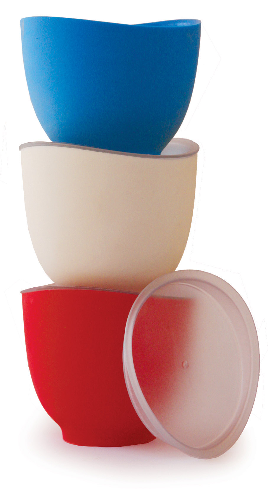 iSi Silicone Prep Bowls Set of 3 with Lids - 1 Cup Each