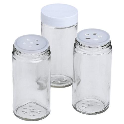 J.K. Adams Glass Spice Bottles, Set of 16