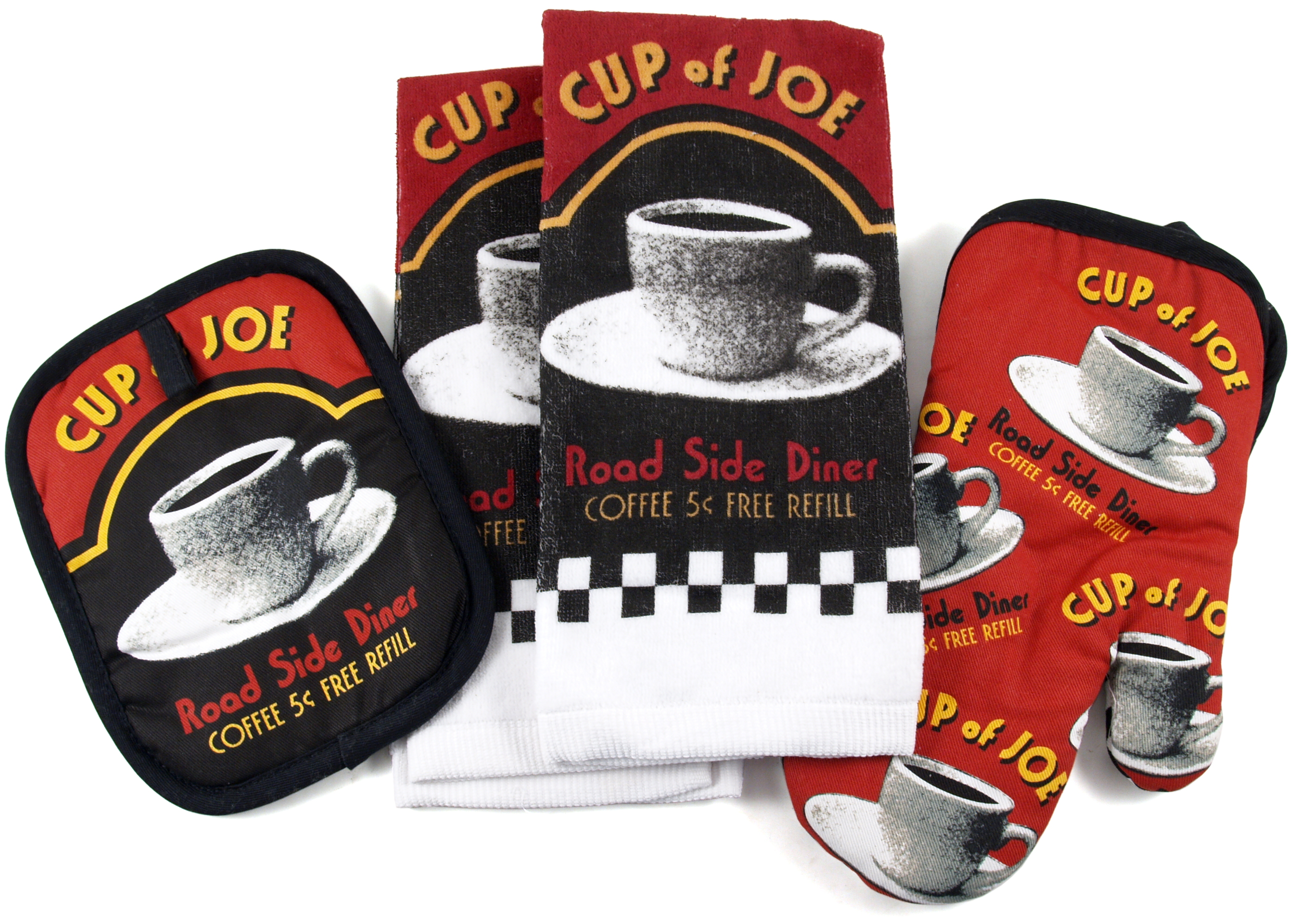 Cup of Joe Road Side Diner 4 Piece Kitchen Set