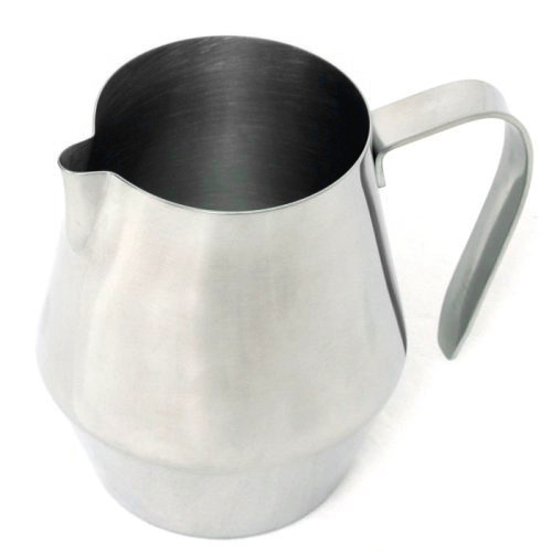 RSVP Espresso Stainless Steel Frothing and Steaming Pitcher, 10 Ounce