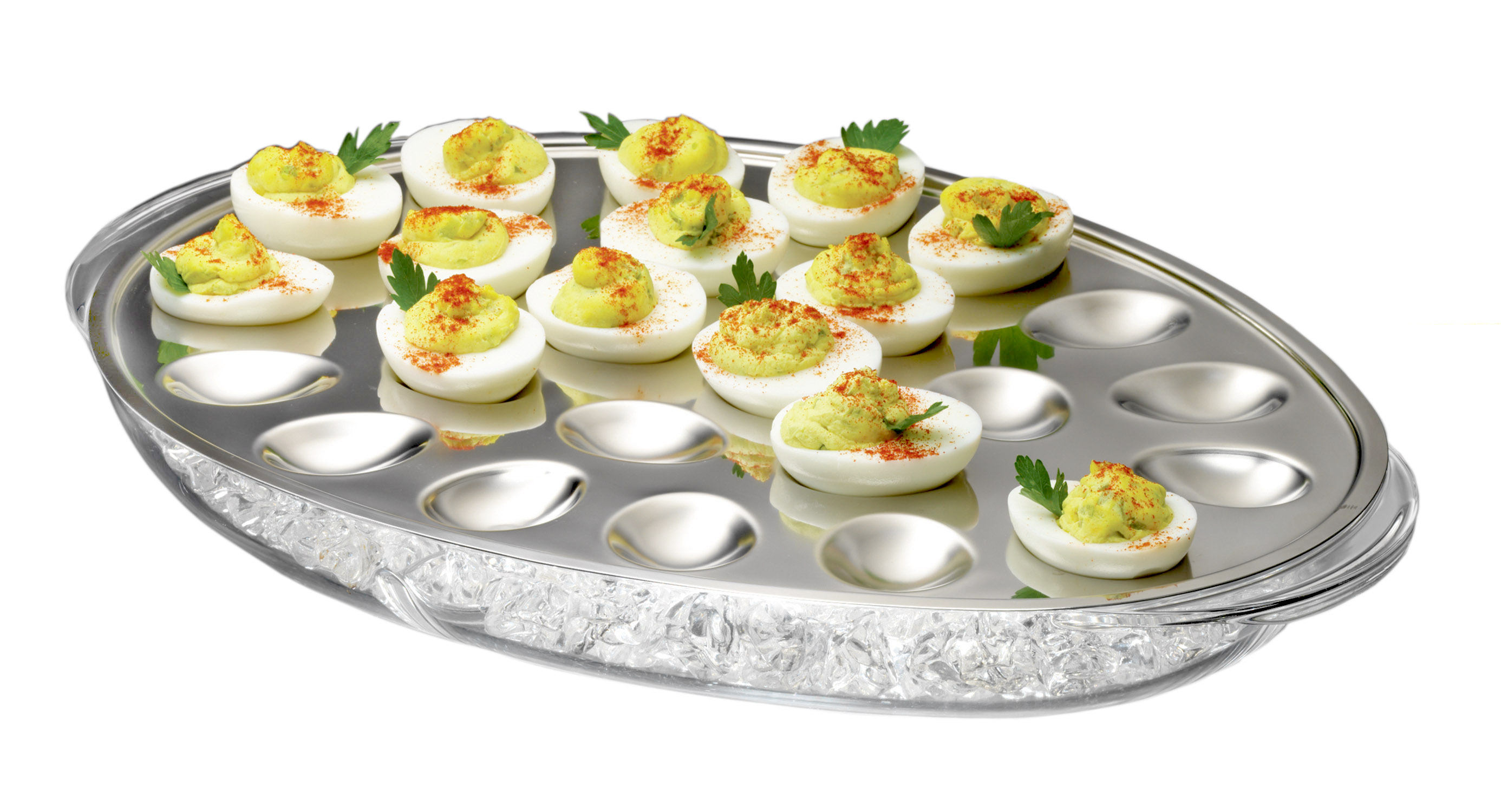 Prodyne Iced Eggs Acrylic & Stainless Steel Server