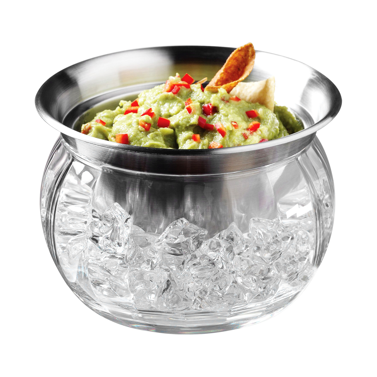 Prodyne Stainless Steel and Acrylic Iced Dip Cup