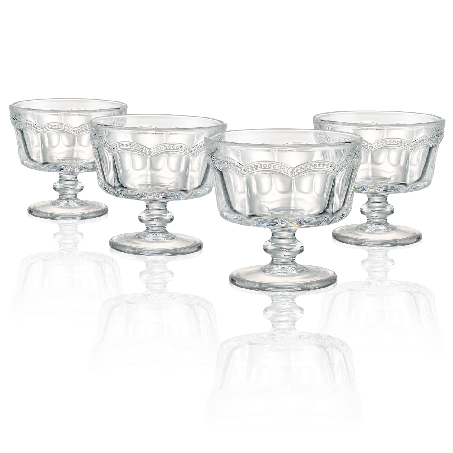 Artland Pearl Ridge Mini Coupe Bowl, Set of 4