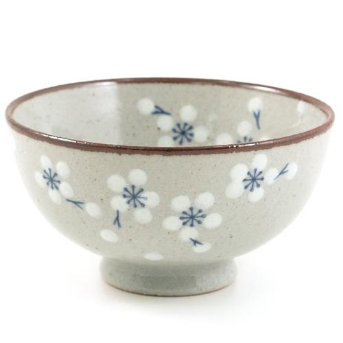 Asian Ceramic Faux Stone Floral Design Bowl 6 Piece Gift Set