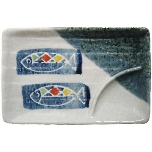 Asian Fish Ceramic Sauce Condiment Sushi Dish