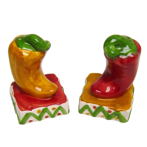 Chili Pepper Ceramic Salt and Pepper Shaker Set