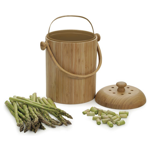 Bamboo Kitchen Compost Pail