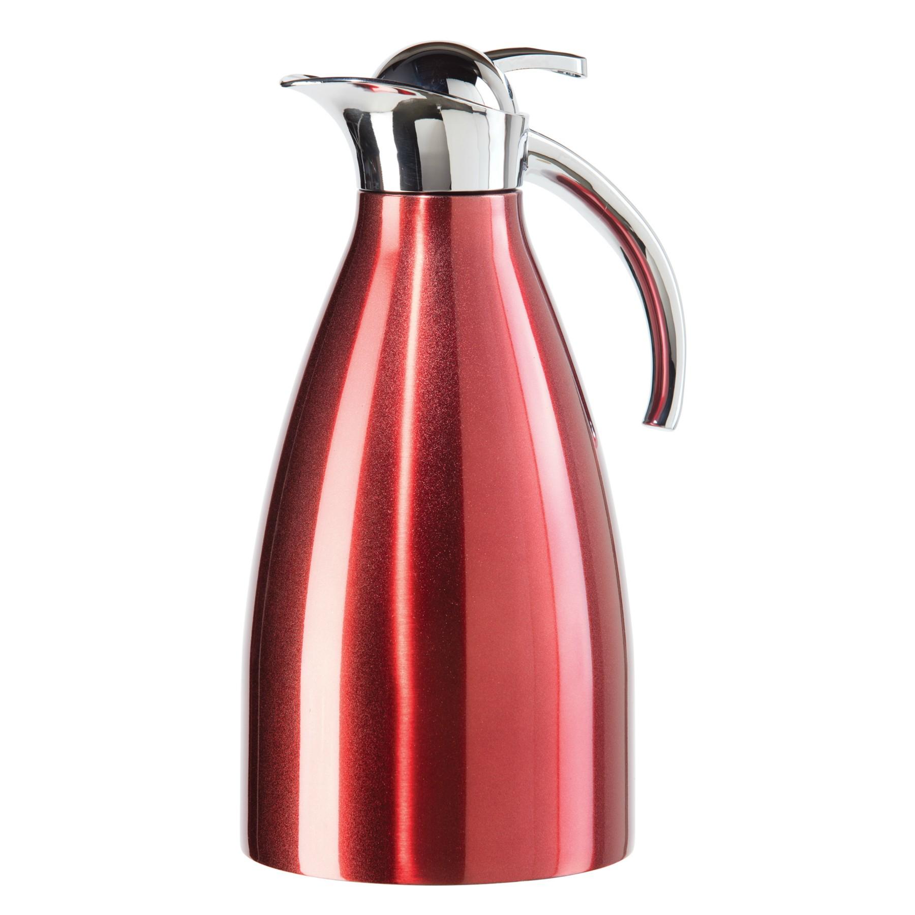 Oggi Allegra Red Stainless Steel Carafe