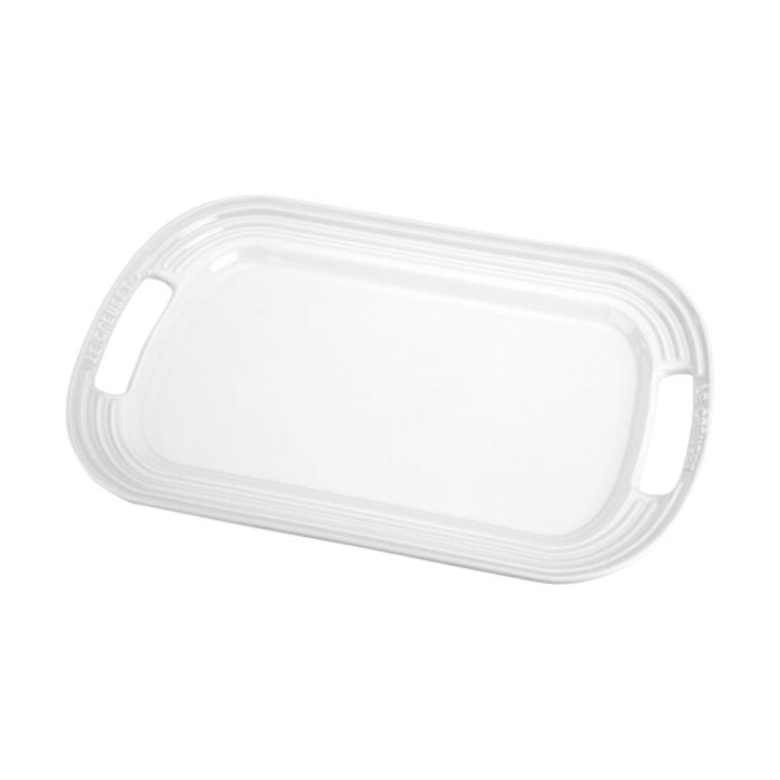 Le Creuset White Stoneware Serving Platter, 16.25 x 11.25 Inch