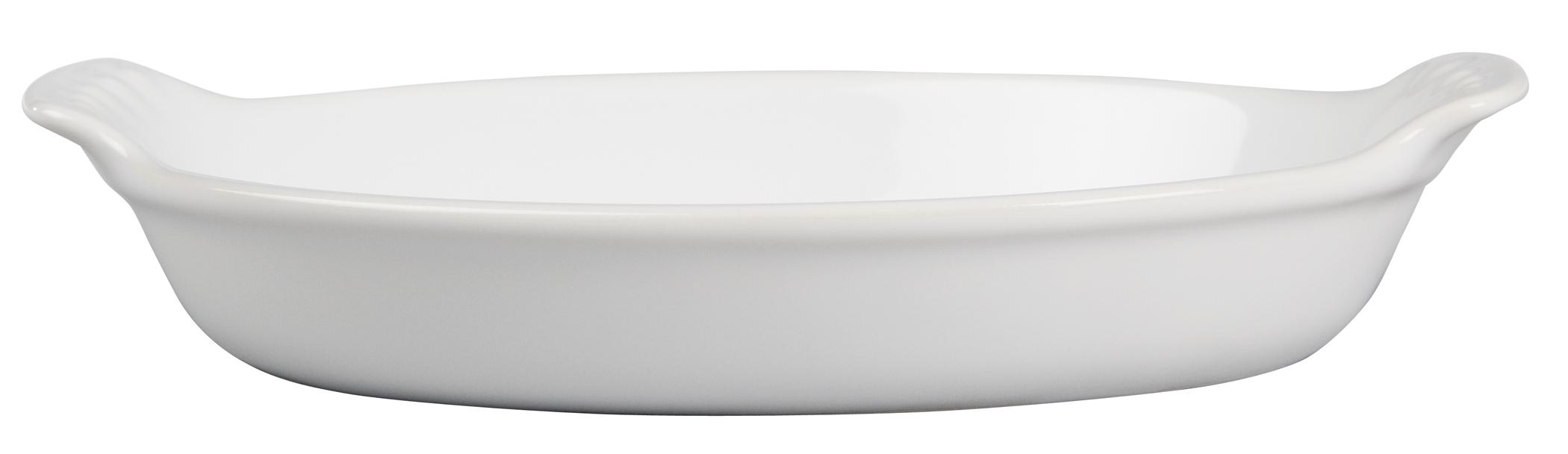 Le Creuset Heritage White Stoneware Petite Au Gratin Dish, 6 Ounce