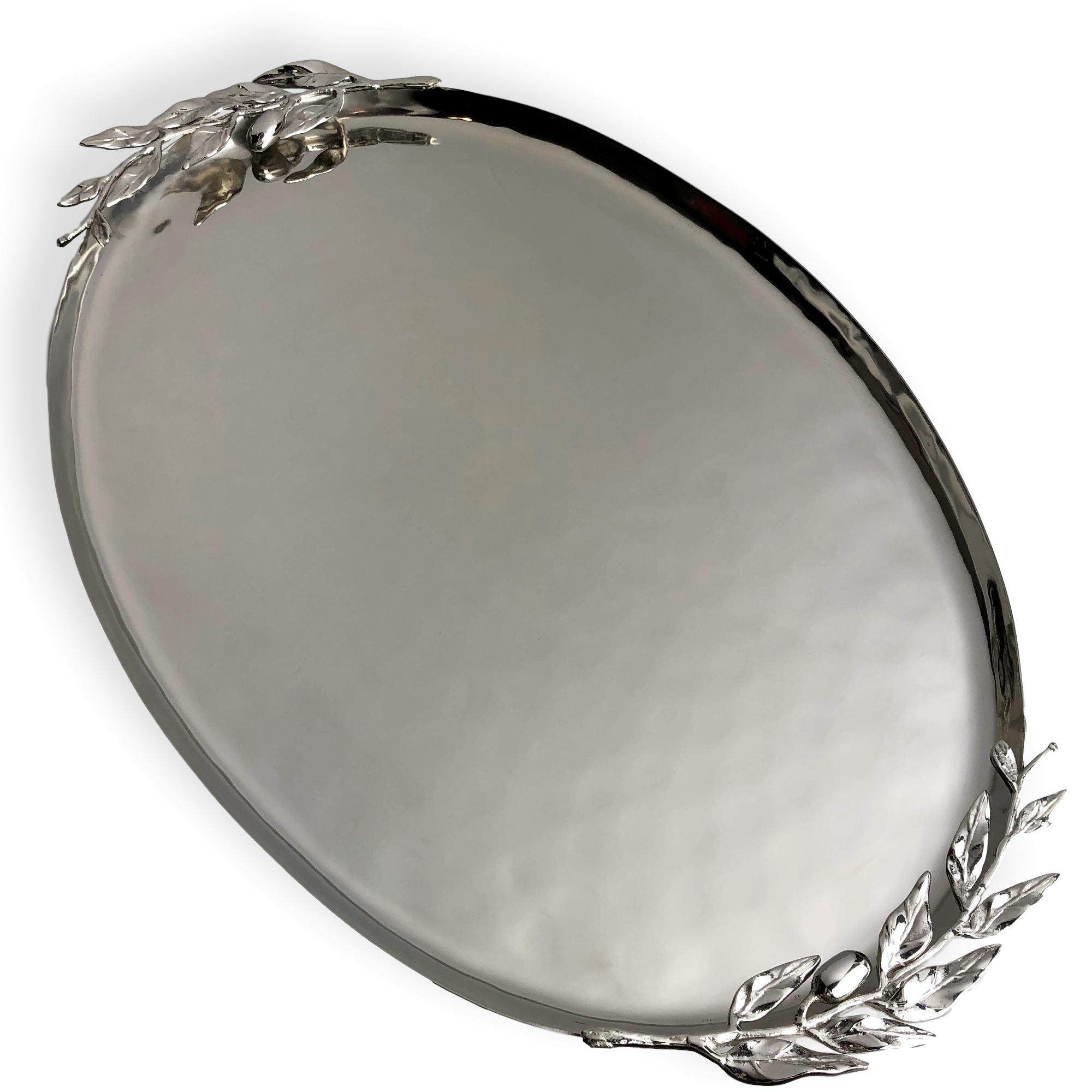 Carmel Ceramica Oliveira 23 x 15 Inch Centerpiece Tray