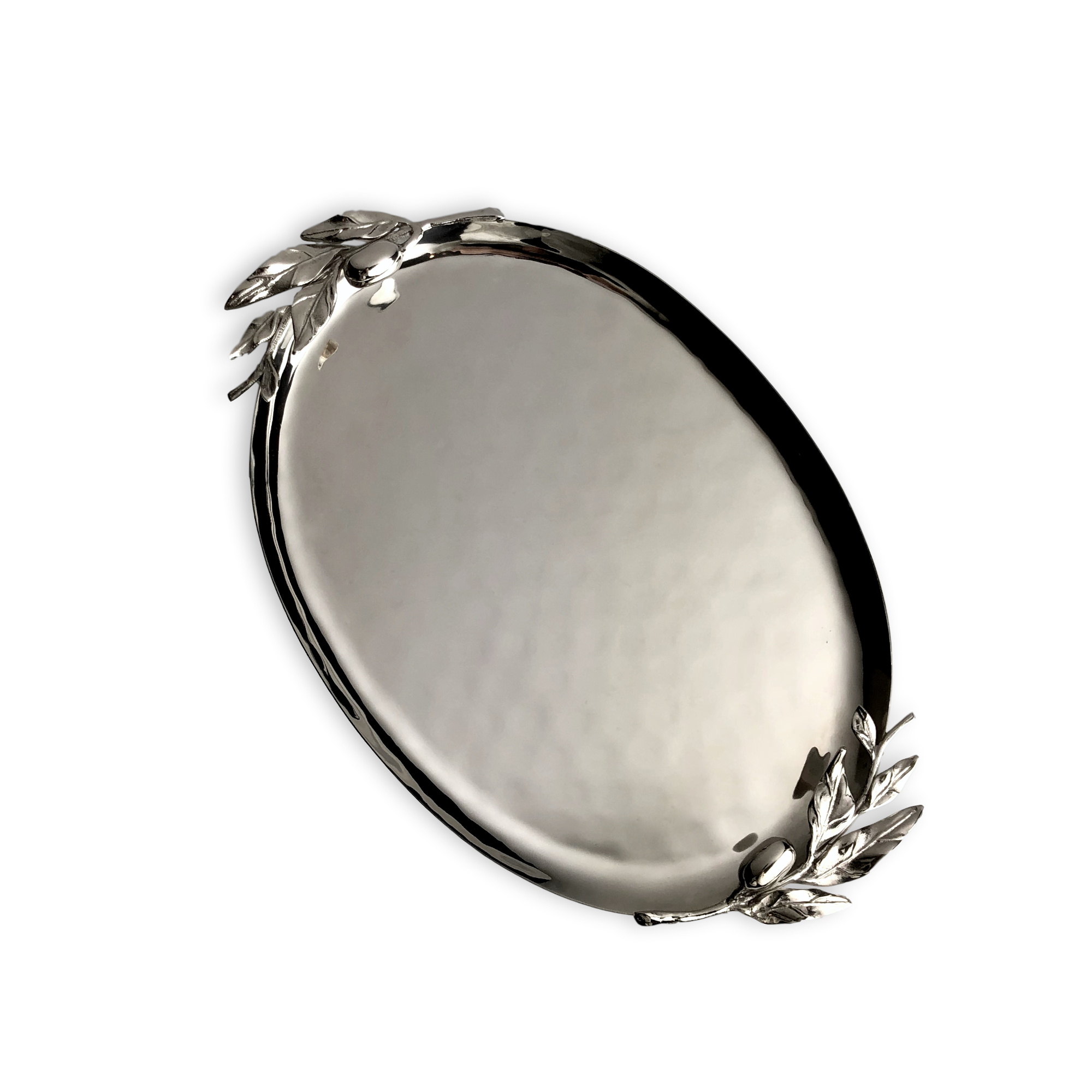Carmel Ceramica Oliveira Stainless Steel Oval Tray