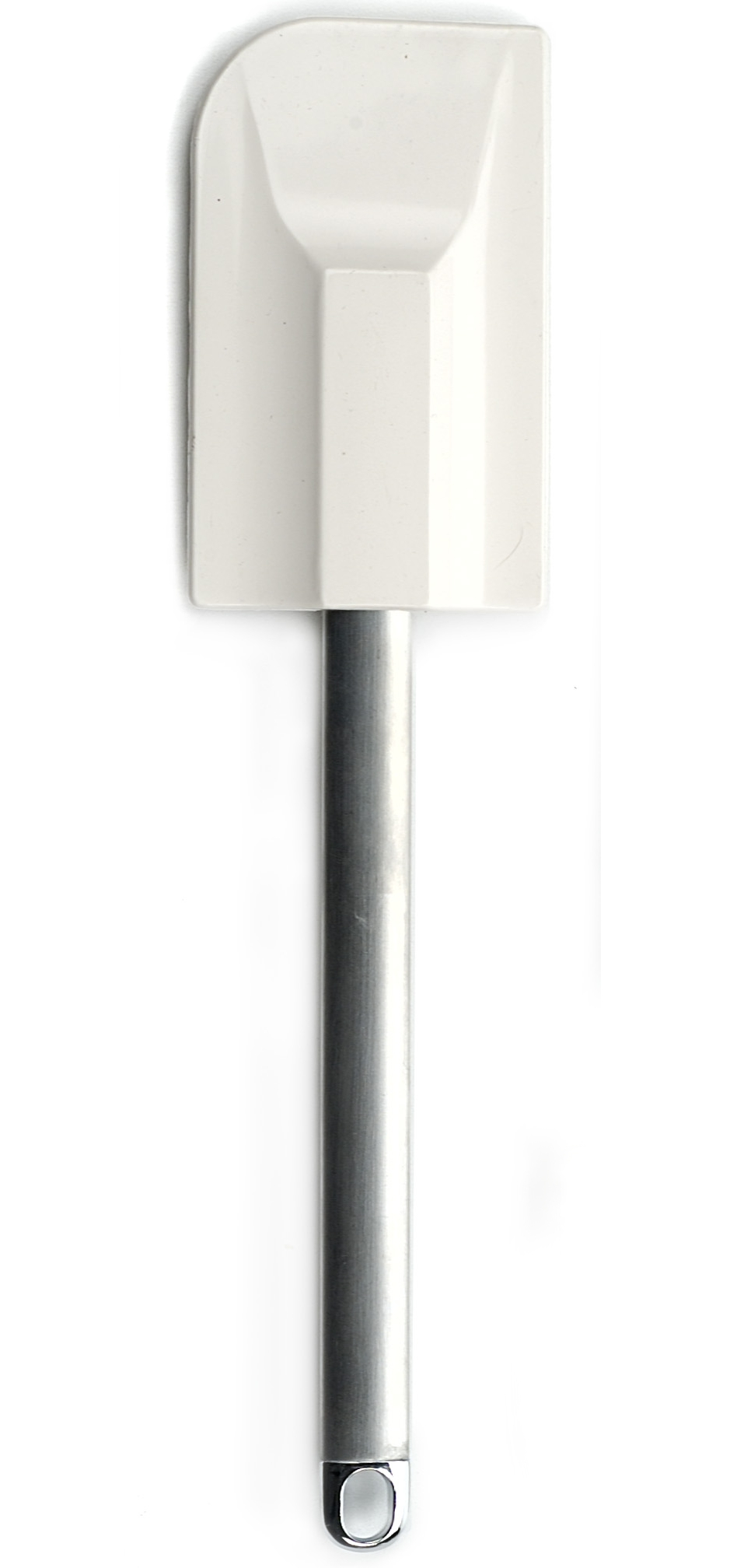 RSVP Large White Silicone Spatula with Stainless Steel Handle