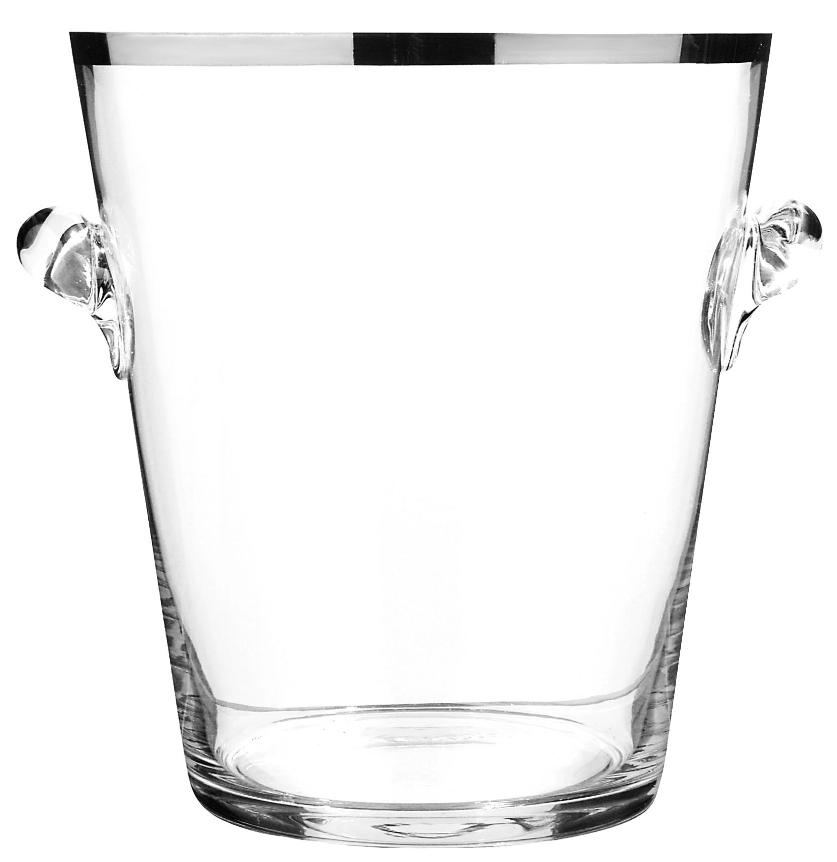 Peugeot Platinum Glass Champagne Bucket