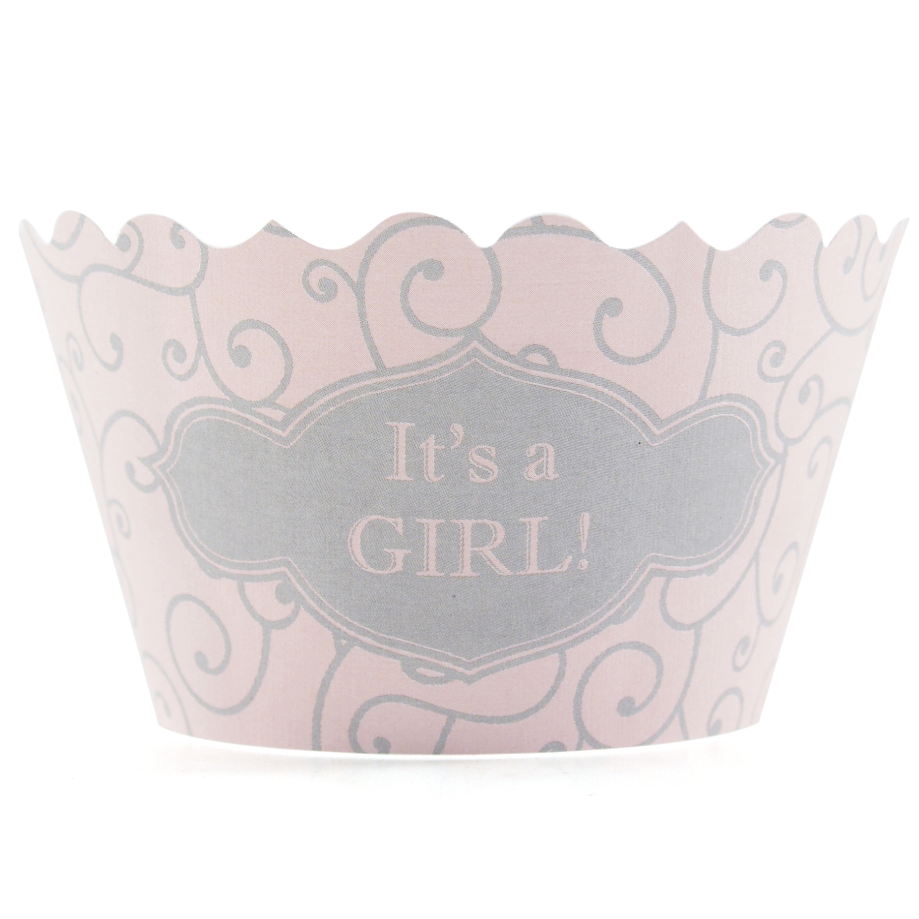 Bella Cupcake Couture It's a Girl Cupcake Wrapper, Set of 12