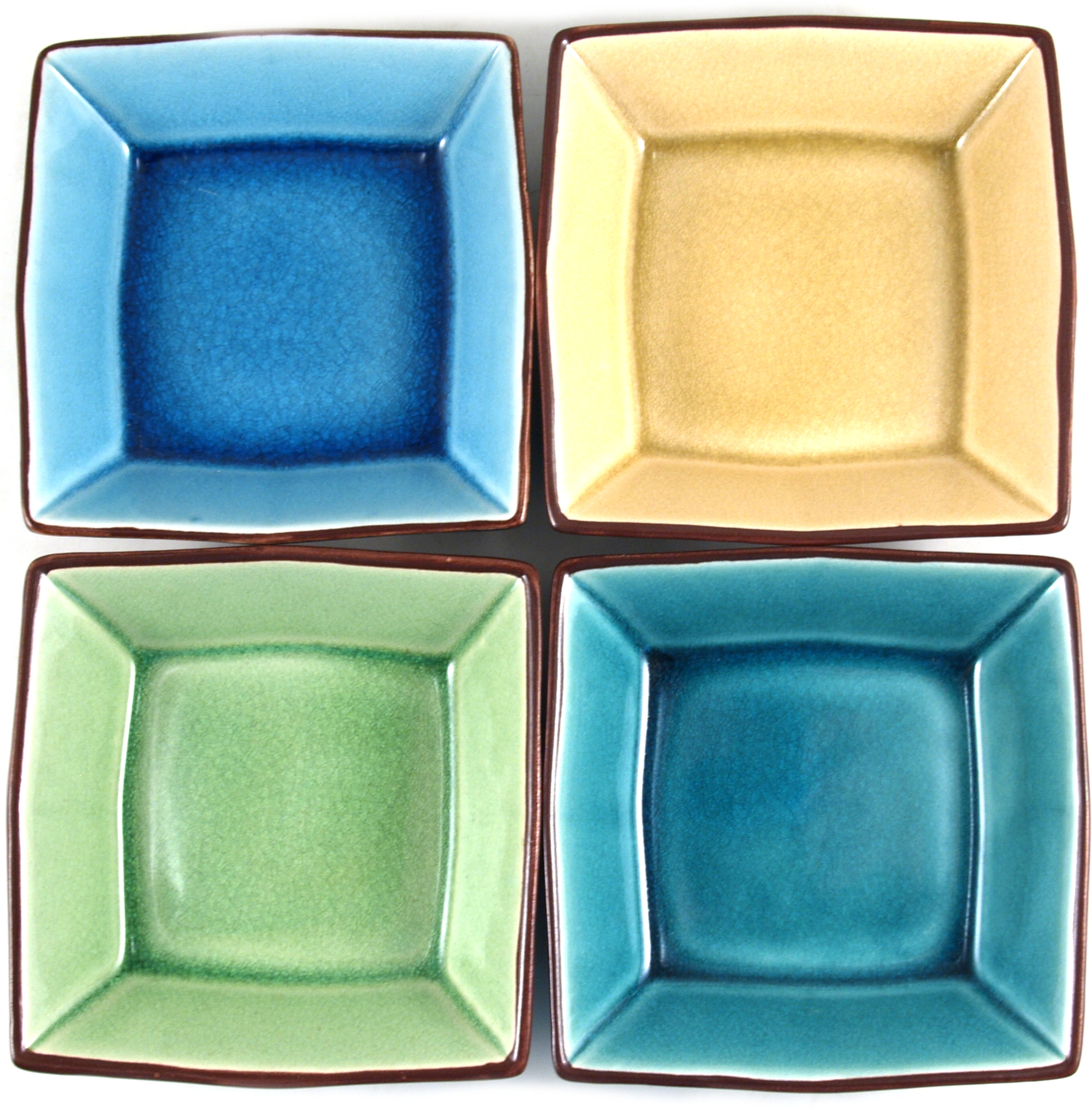 Asian Porcelain 4 Piece Sauce Bowl Set
