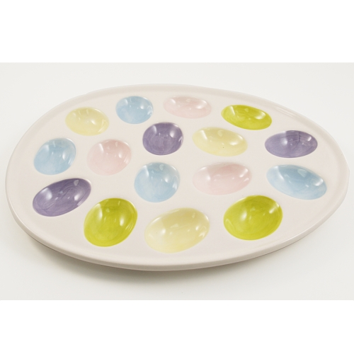 Egg-Shaped Deviled Egg Serving Platter