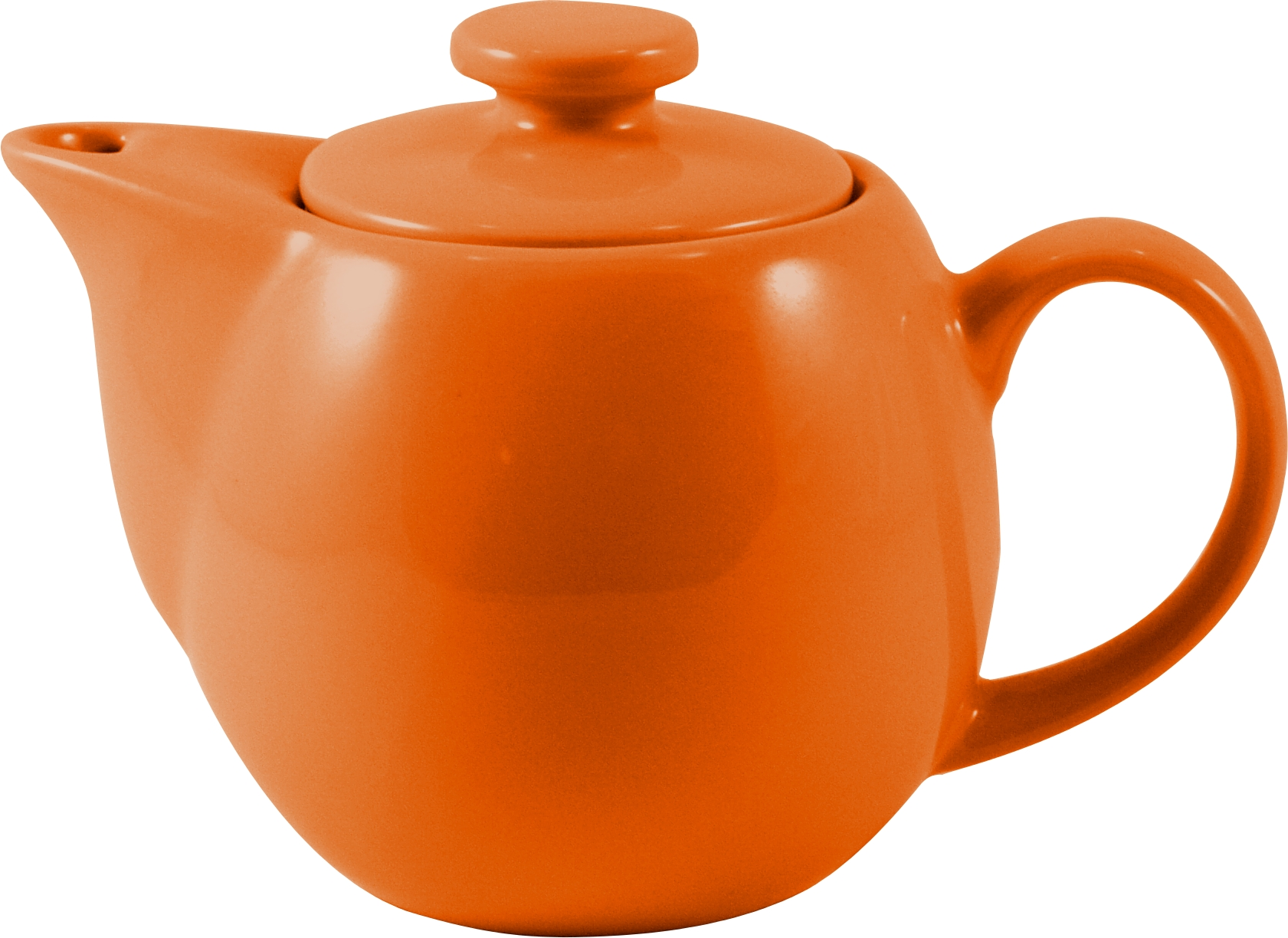 OmniWare Teaz Orange Stoneware 14 Ounce Teapot with Stainless Steel Mesh Infuser