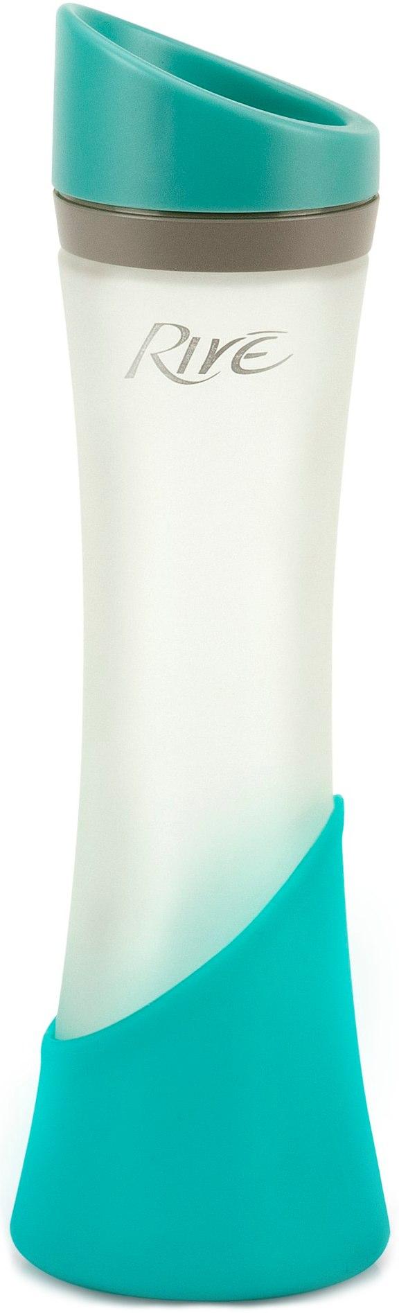 Rive Elan Aqua Glass Water Bottle, 12 Ounce