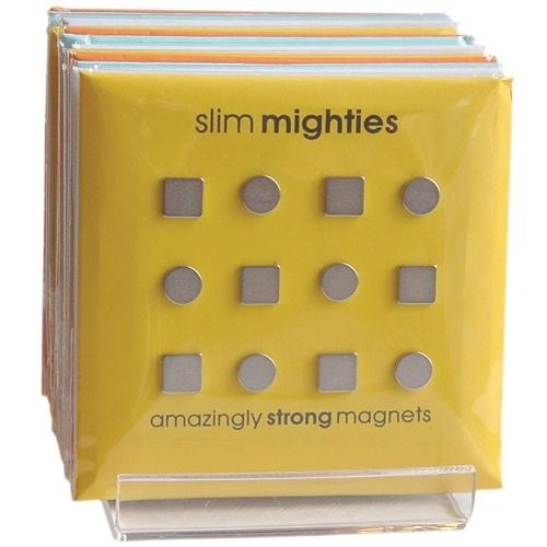 Three by Three Slim Mighties Magnets, Set of 12