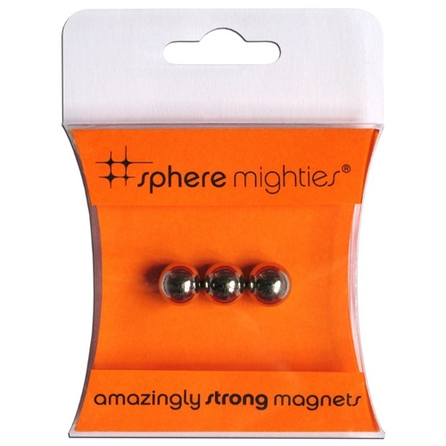Three by Three Sphere Mighties Magnets, Set of 3