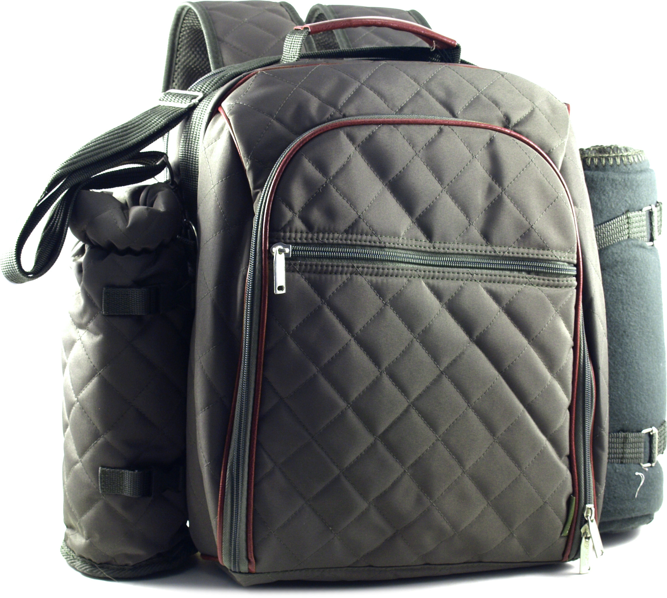 """""""Mini Me"""" Olive Deluxe Insulated Baby Back Pack With Blanket"""
