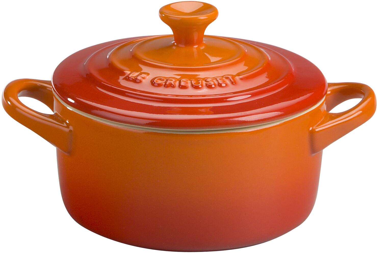 Le Creuset Flame Enameled Stoneware 8 Ounce Mini Round Cocotte