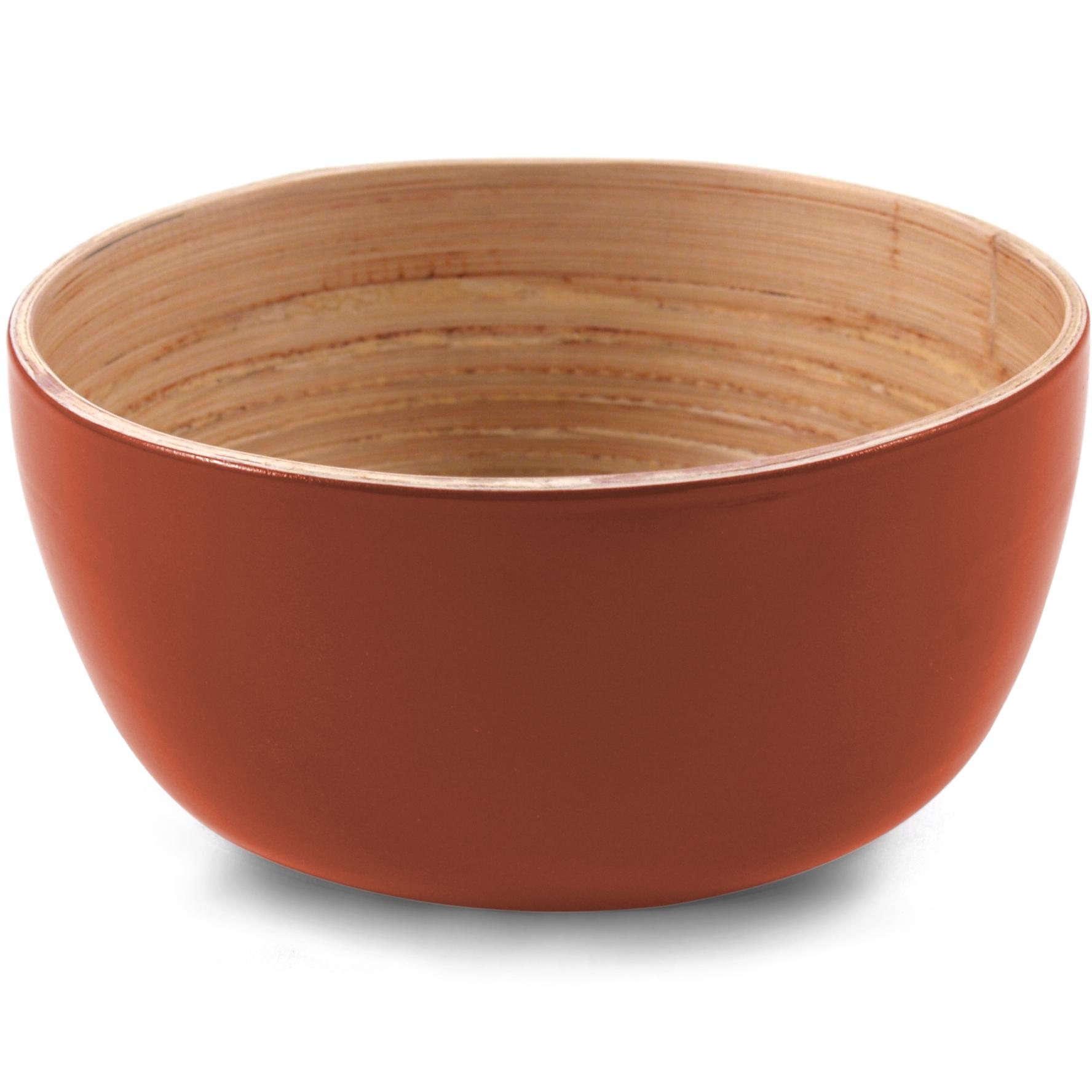 Core Bamboo Terracotta Orange Small Bowl, Set of 4