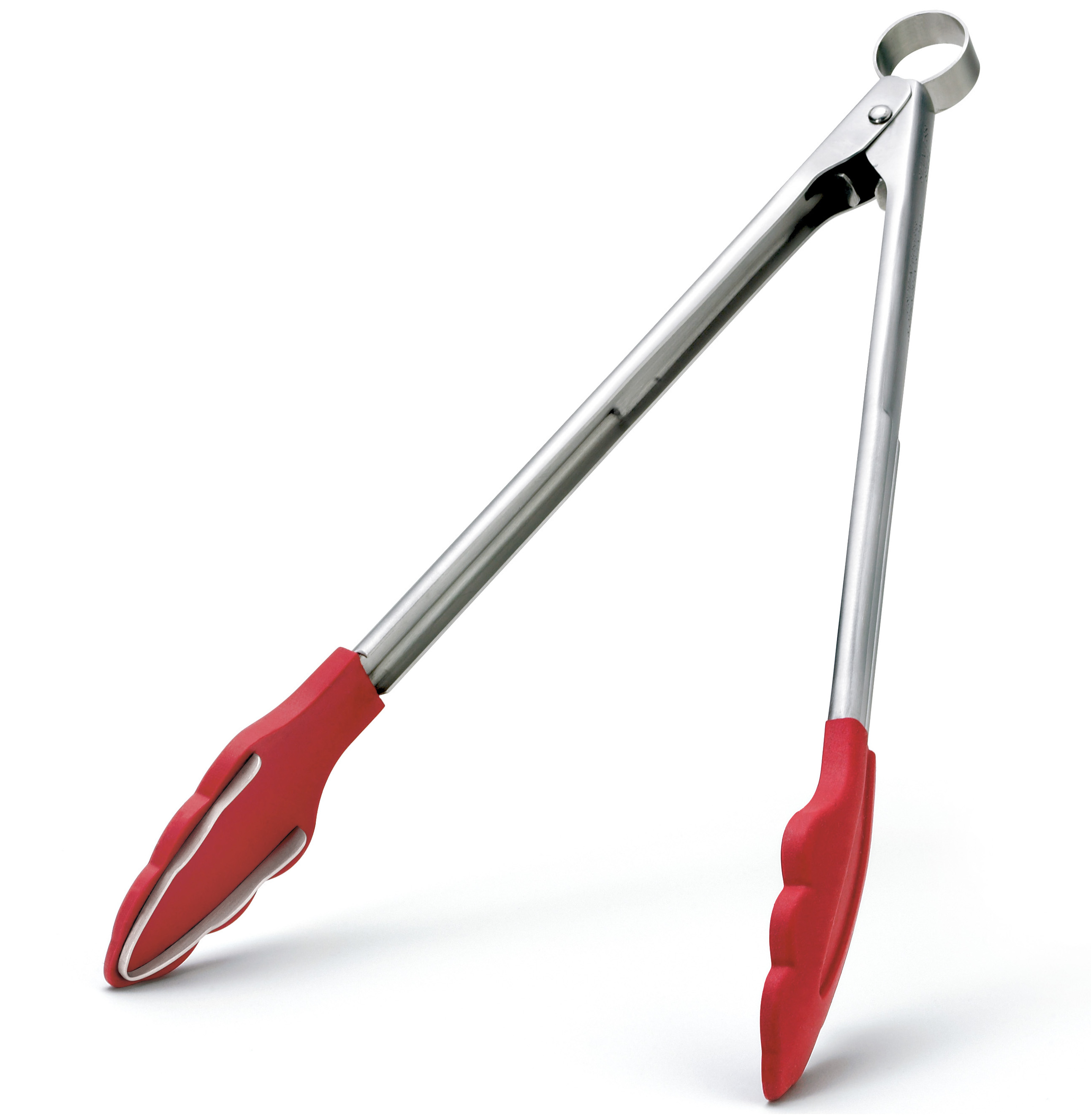 Cuisipro Red Silicone Tongs with Teeth